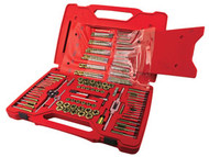 117 pc. Machine Screw, Fractional & Metric Tap & Die Drill Bit Set ATD-277