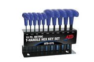 T-Handle Hex Key Set, Metric, 10pc ATD-575