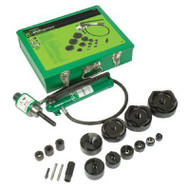 Greenlee Ram and Hand Pump Hydraulic Driver Kit with 10 Slug Buster Punches