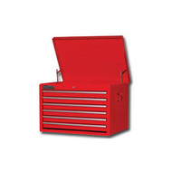 27 in  6 Drawer Starter Top Chest - Red