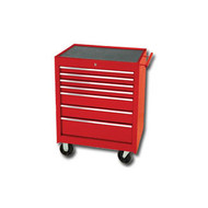 27 in  7 Drawer Starter Cabinet - Red