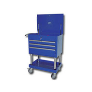 Mountain Professional 4 Drawer Blue Service Cart with Mag Wheels