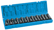 "18 Pc. 1/2"" Dr. Metric and Fractional Hex Impact Driver Set"