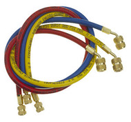 "3 Pc. Set of 72"" Enviro-Guard™ Charging Hoses with Quick Seal Fittings for R-12"