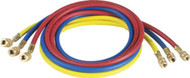 "3 Pc. Set of 1/4"" x 72"" Charging Hoses with Quick Seal Fittings (R12)"