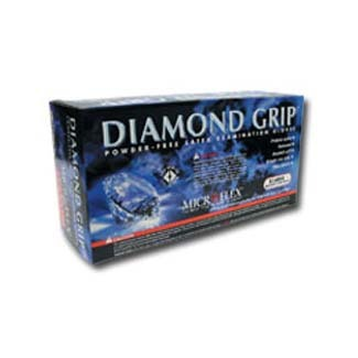 Extra Large Diamond Grip natural Latex Gloves 100 Per Box (MFXMF300XL)