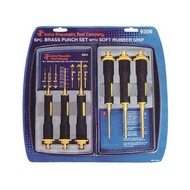6pc. Brass Punch Set with Soft Rubber Grip