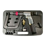 """Air Spot Drill -500 rpm with 5.5"""" Deep Clamp Kit and 4 Drill Bits, AST1757"""