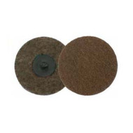 2 in  Non-Woven Surf. Cond. Disc, Plastic Button Style, AO - Coarse