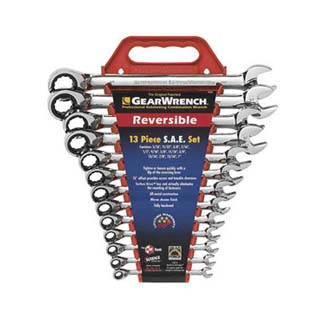 13 Piece SAE Reversible GearWrench Set KDT9509