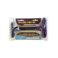 8 Piece 9 in  Cushion Grip Metric T-Handle Hex Key Set 2-10mm