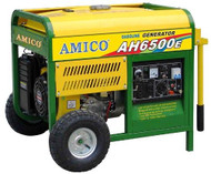 Amico AH6500E Gasoline Generator 120V/240V, Rated AC Power 6000W
