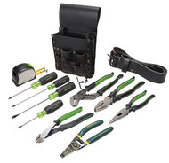 Greenlee 0159-13 Electricians Tool Kit - Standard, 12 pc