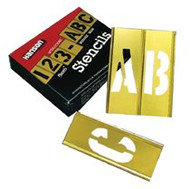 "2"" 45PC LETTER & NUMBERSTENCIL SET BRASS 10071"