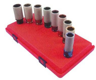 9pc Extra Thin Wall Wheel Protector Impact Socket Set SAE  and  Metric