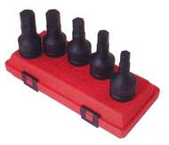 5pc 3/4 in dr. Hex Impact Socket Set Metric