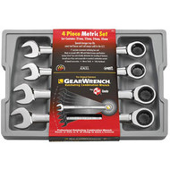 4 pc. Jumbo Metric Combination Ratcheting GearWrench Set