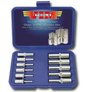 11 Piece Deep Torx Socket Set - E4 Thru E18