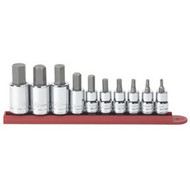 "10 pc. 3/8"" and 1/4"" Dr. SAE Hex Bit Socket Set KDT80579"