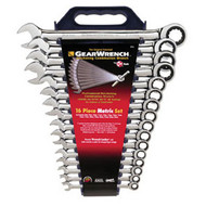 16 pc. Metric Combination Ratcheting GearWrench Set