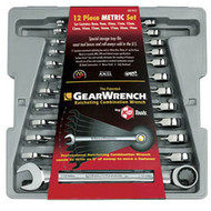 12 pc. Standard Metric Combination Ratcheting GearWrench Set KDT9412