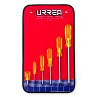Urrea phillips tip screwdriver set w/ vinyl #2, 0, 1, 2, 3, 4