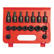 17 PC 1/2 in  DR. Impact External and Internal Torx Set