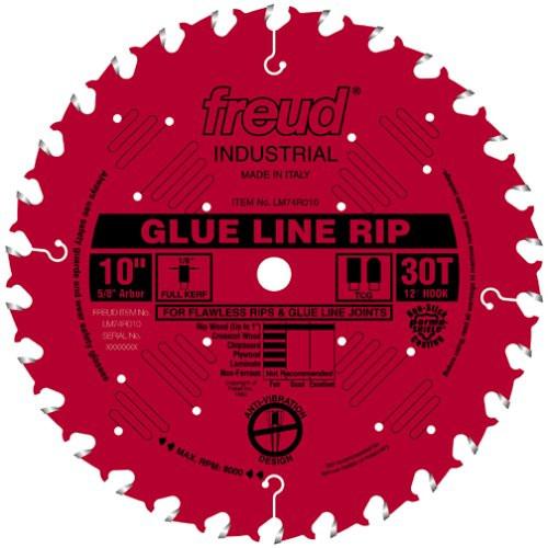 Freud 10-Inch 30 Tooth TCG Glue Line Ripping Saw Blade LM74R010