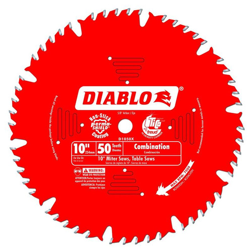 Freud Diablo 10-Inch 50-tooth ATB Combination Saw Blade D1050X