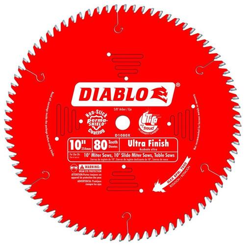 Freud Diablo 10-Inch 80-tooth ATB Finish Saw Blade D1080X
