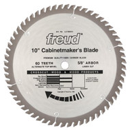 Freud 10-Inch 60 Tooth ATB Cabinetmaker's Crosscutting Saw Blade LM73M010