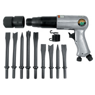 250mm Long Barrel Air Hammer with 9 Piece Chisel Set