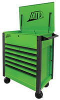 "ATD Tools 35"" 7-Drawer Flip-Top Tool Cart, Green"