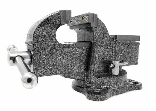 3-Inch Heavy Duty Cast Iron Bench Vise with Swivel Base