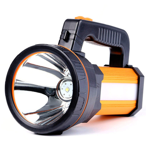 35W LED Rechargeable Handheld Searchlight 2019 Version, High-Power Super Bright 9000mA 6000 LUMENS, CREE Tactical Spotlight Torch