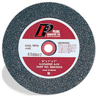 "AO Bench Grinding Wheels for Metal, 6"" x 1/2"" x 1"", Type 1 Shape A24"
