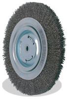 10 x 3/4 x 3/4, 0.014 Bench Wheel Wire Brush, Tempered Wire