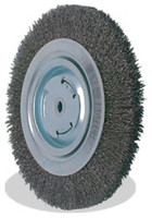 6 x 5/8 x 2, 0.014 Bench Wheel Wire Brush, Tempered Wire