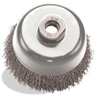2-3/4 x 5/8-11 Crimped Cup, Tempered Wire