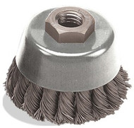 5 x .020 x 5/8-11 Knot Cup, Stainless Wire