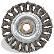 4 x .020 x 5/8-11 Knot Wheel, Regular Twist, Tempered Wire