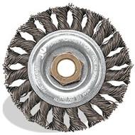 4 x .020 x 5/8-11 Knot Wheel, Regular Twist, Stainless Wire
