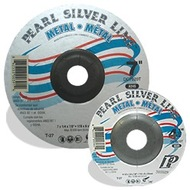 4-1/2 x 1/8 x 7/8 Silver Line™ AO Depressed Center Wheels, A24R, 25/Box, Pipeline