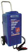 Associated Equipment's 6002B 6/12/18/24V 100/80/50/40 Amp 400 Amp Charger Cranking Assist with Wheels