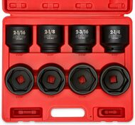 "3/4"" Drive Jumbo Shallow Impact Socket Set, 8 Piece | SAE (2-1/16"" - 2-1/2"") | Cr-Mo Steel"