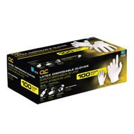 Latex Disposable Gloves, Medium, Pre-Powdered, 100 pk (X-Large)