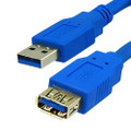 USB 3.0 High Speed Extension Cable With A-Type Male to A-Type Female Connector, Blue Color