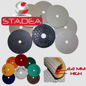 "Stadea Dry Diamond Polishing Pads 5"" Concrete Stone Floor Edge Polishing Set, Series Ultra B"