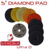 "Stadea 5"" Wet Diamond Polishing Pads For Granite Quartz Polishing, Series Ultra D"