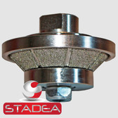 "Diamond Profile Wheel Bevel E5 5MM 3/16"" For Granite Marble Hand Profiling"